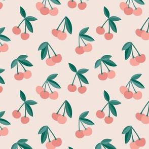 Little Cherry love garden for spring summer nursery design neutral sand creme peach green