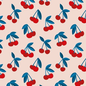 Little Cherry love garden for spring summer nursery design neutral creme red blue usa traditional flag colors