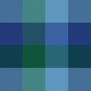"simple 2""madras - custom blue/green/turquoise"