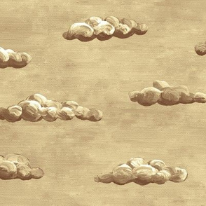 painted clouds - brown and cream