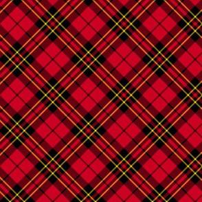 "Brodie clan tartan, 2"" diagonal"