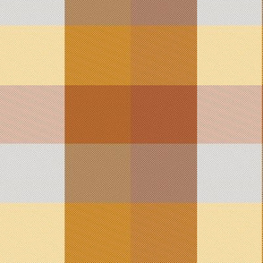 """simple madras, custom gold brown and grey, 2""""x1.7"""""""