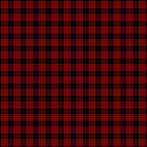 """Cameron black and red tartan, 1/2"""" (blended colors, no twill lines)"""