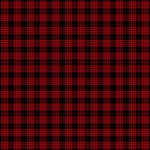"""Cameron black and red tartan, 1/2"""" (with twill lines)"""