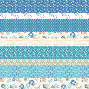 Blue Spring Cheater Quilt