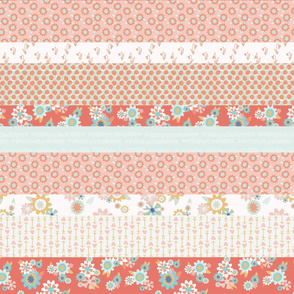 Pink Spring Cheater Quilt