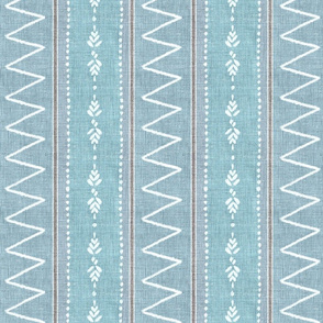 Cerulean blue bohemian linen