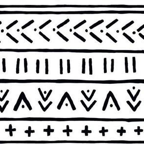 Organic Mudcloth // Black and White geometric geo pattern
