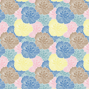Blossom Lineart Waterlily FairyLand Blush