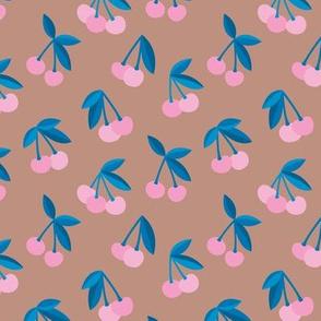 Little Cherry boho love garden for spring summer nursery design neutral latte brown pink blue