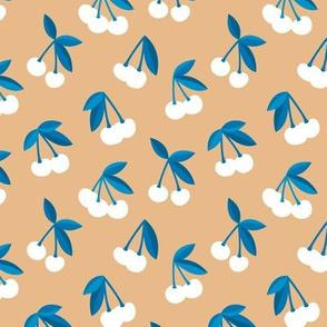 Little Cherry boho love garden for spring summer nursery design neutral ginger cinnamon blue white