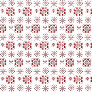 Red snowflakes & hearts