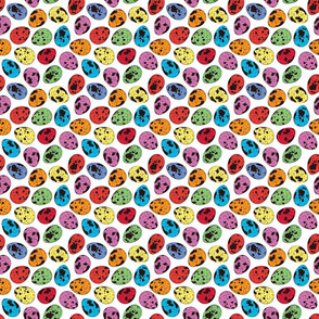 Color Quail eggs seamless pattern-01