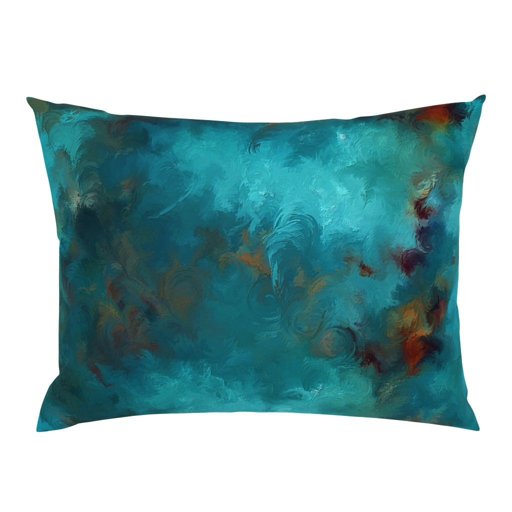 Campine Pillow Sham featuring ROYSTON BLUE COPPER by poefashion