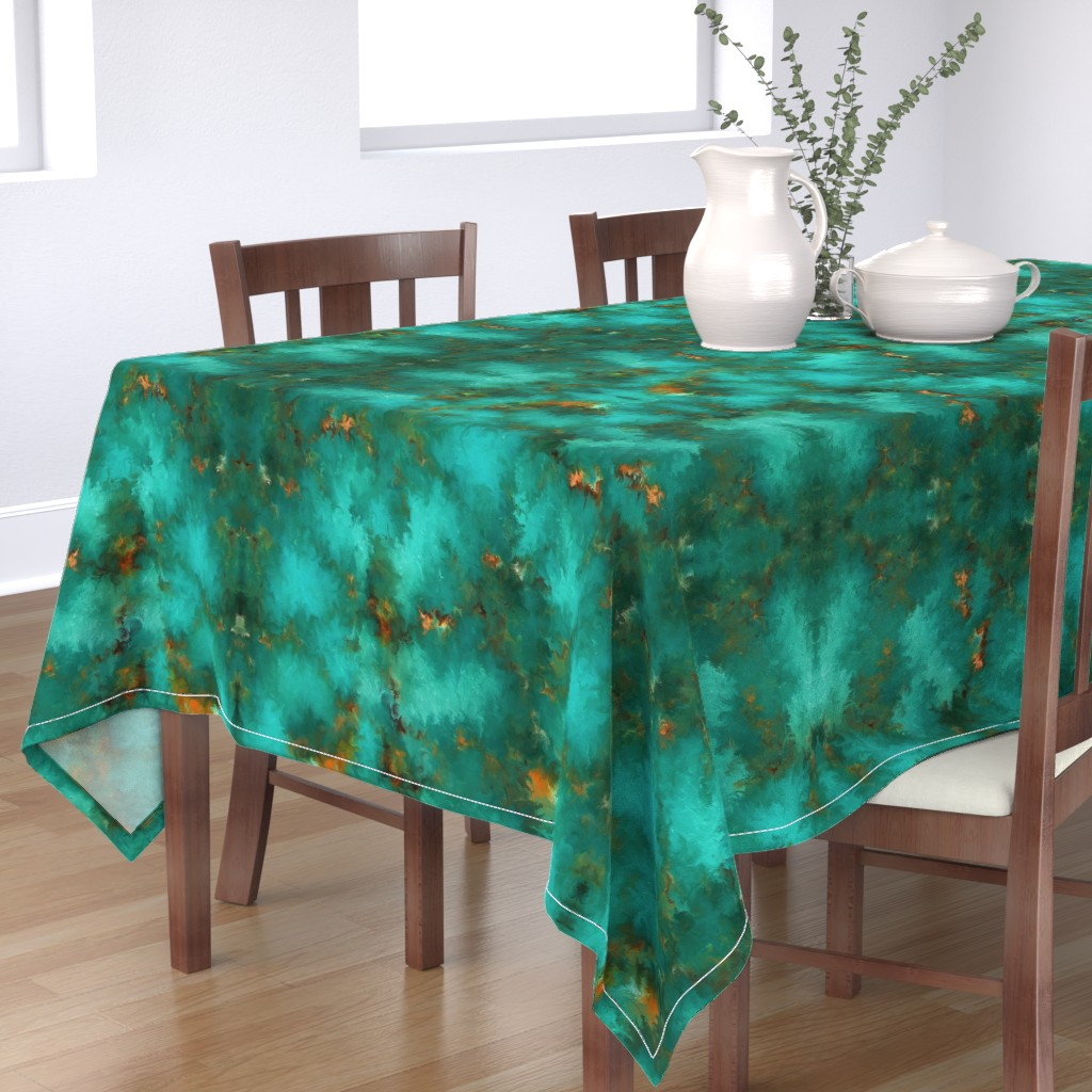"Bantam Rectangular Tablecloth featuring ROYSTON BLUE GREEN SET FOR 60"" wide by poefashion"