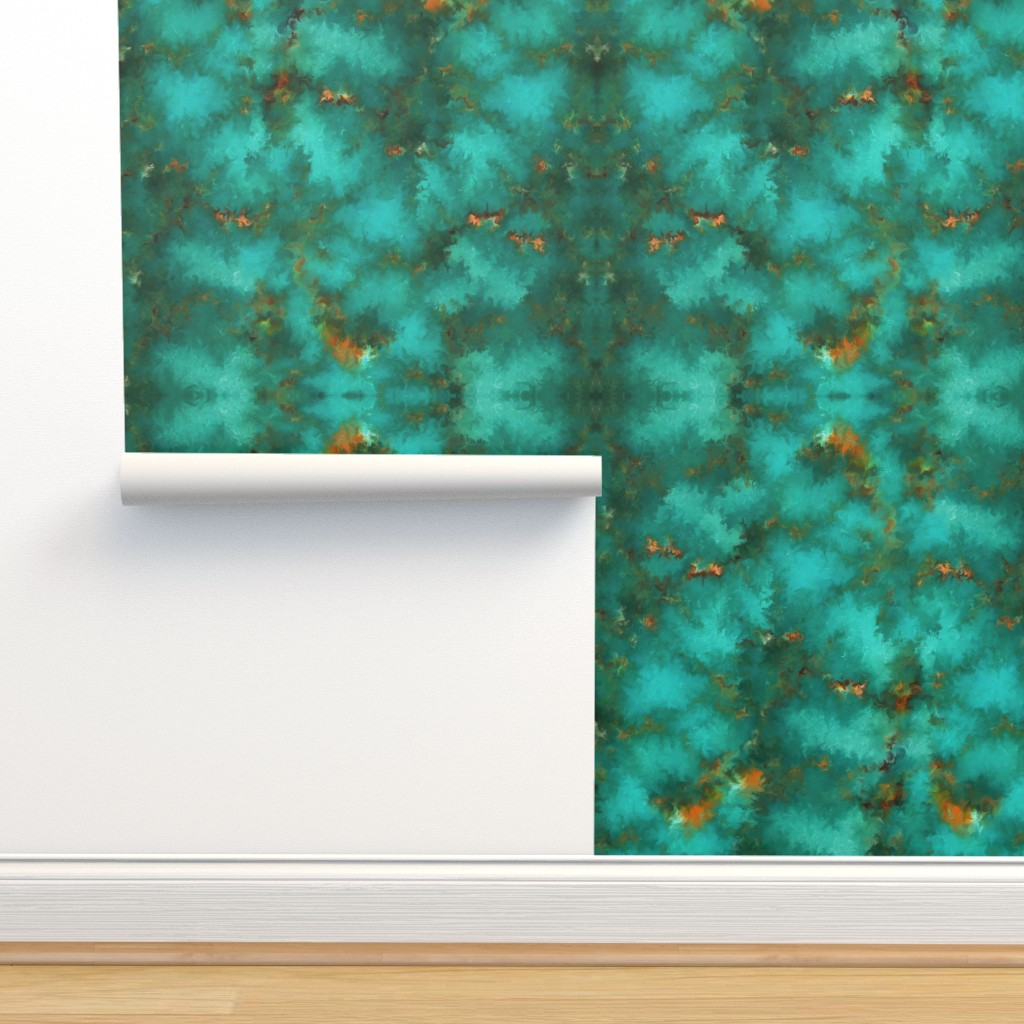 """Isobar Durable Wallpaper featuring ROYSTON BLUE GREEN SET FOR 60"""" wide by poefashion"""