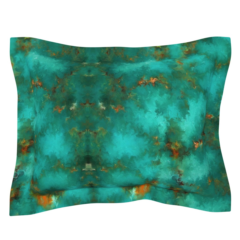 """Sebright Pillow Sham featuring ROYSTON BLUE GREEN SET FOR 60"""" wide by poefashion"""