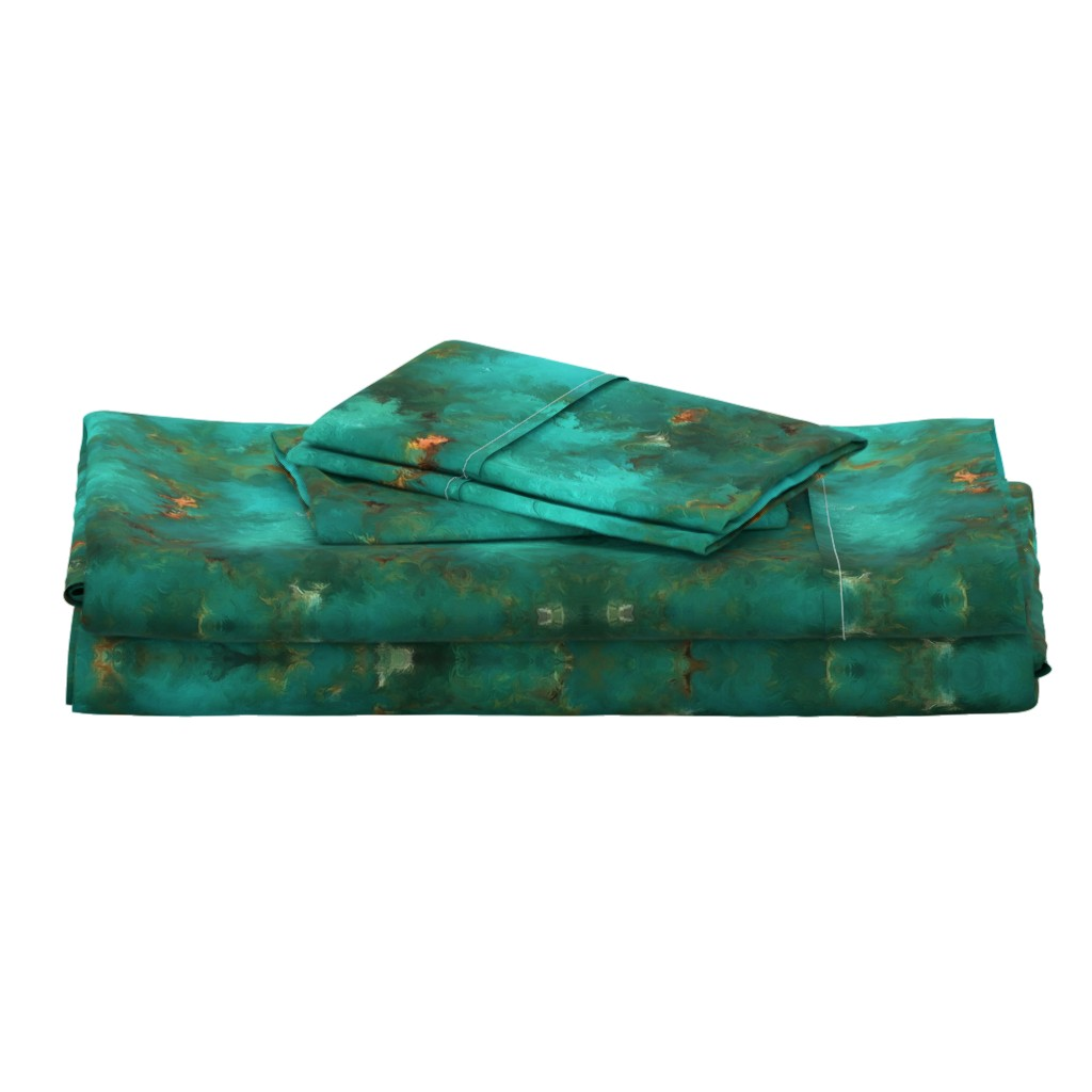 """Langshan Full Bed Set featuring ROYSTON BLUE GREEN SET FOR 60"""" wide by poefashion"""