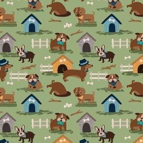Pink Purple Woodland Owls Nighttime Dark