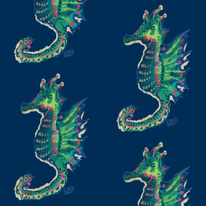 Seahorses on Navy - Large Scale