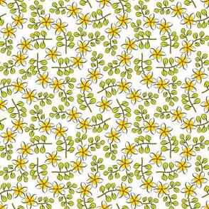 frangipanis-ditsy-green-leaves