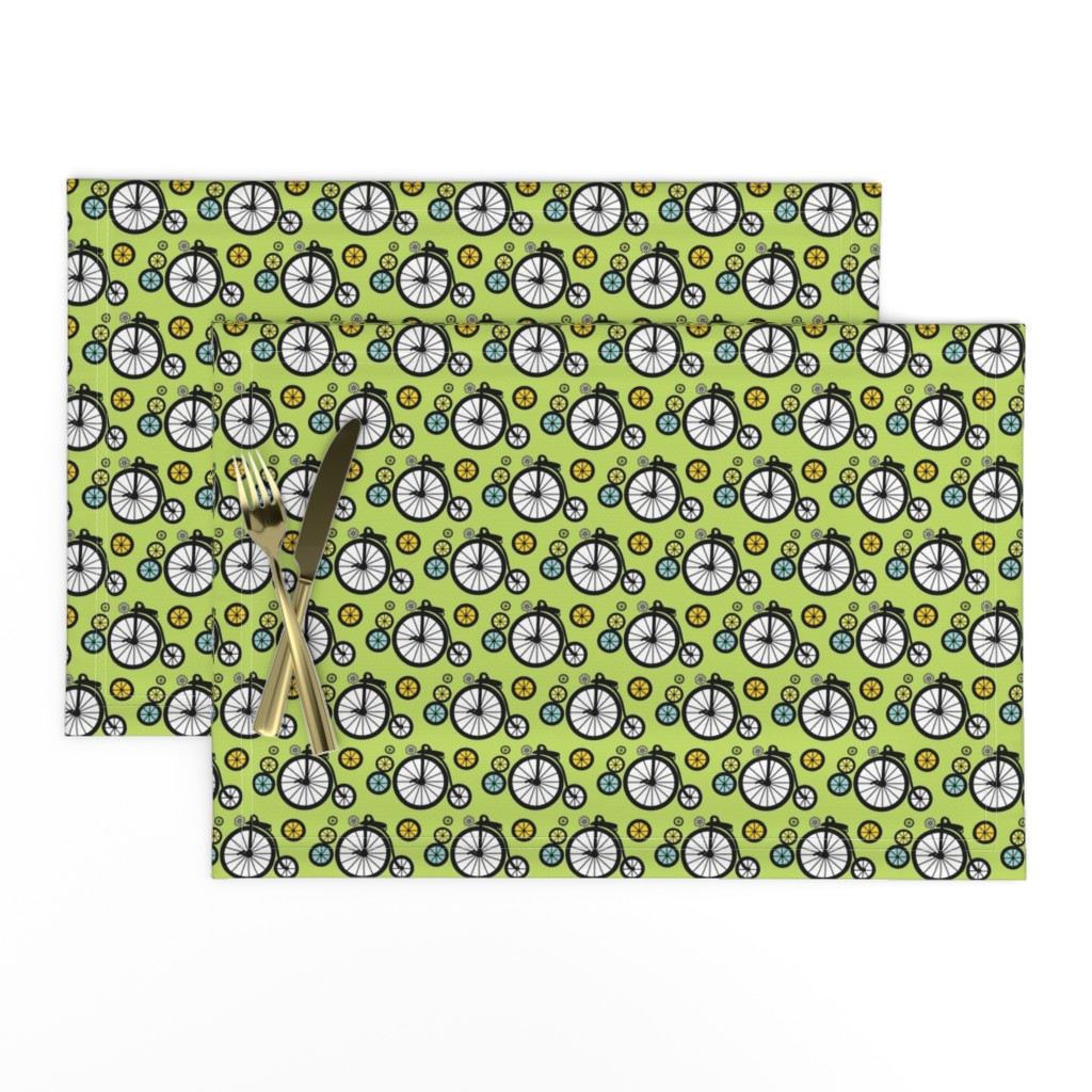 Lamona Cloth Placemats featuring I Want To Ride by kiwicuties