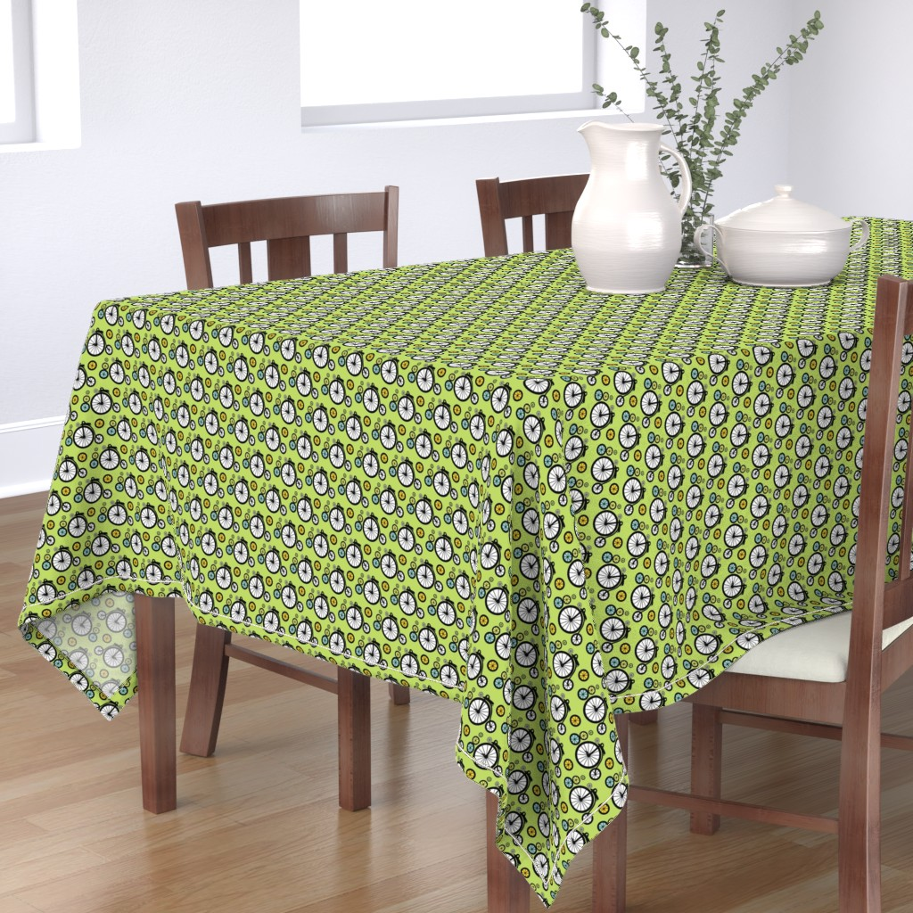 Bantam Rectangular Tablecloth featuring I Want To Ride by kiwicuties