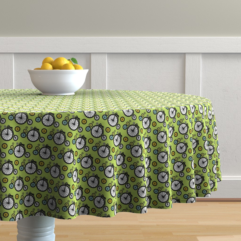 Malay Round Tablecloth featuring I Want To Ride by kiwicuties