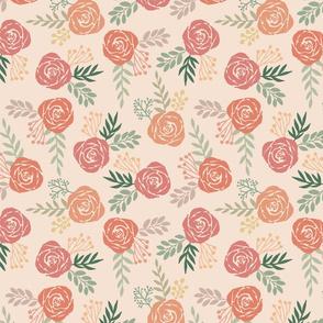 Warm Floral Pattern