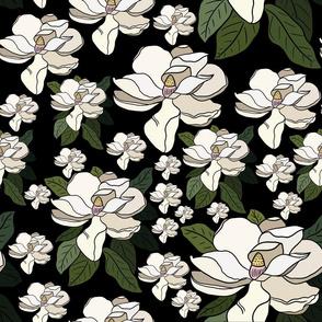 Off white bloom- black