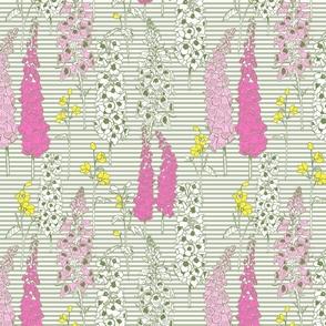 Medium May Flowers Stripe