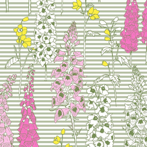 Large Scale May Flowers Stripe
