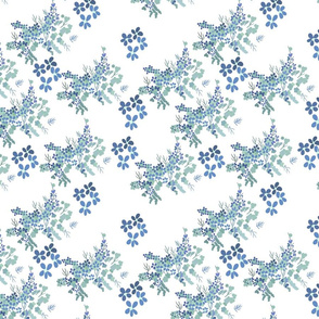 Dainty floral - blue