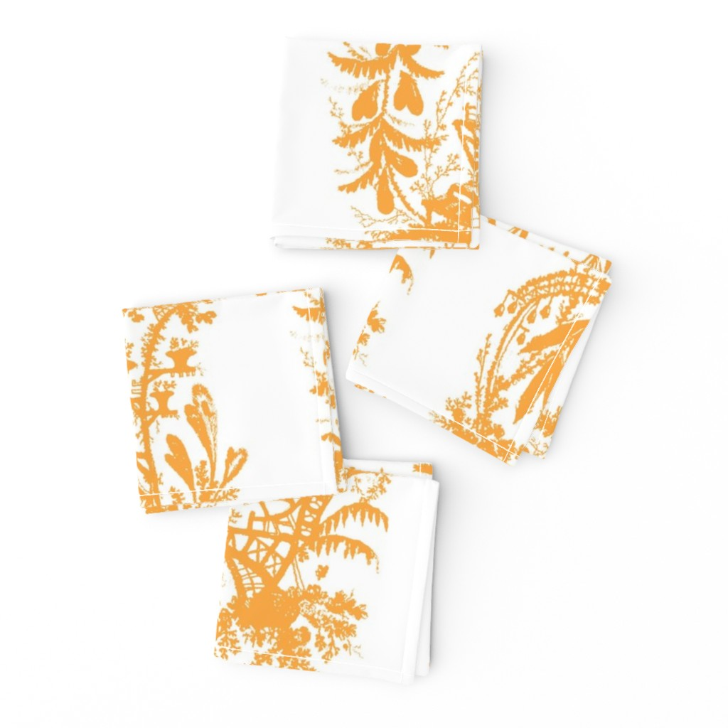 Frizzle Cocktail Napkins featuring Yu Yan citrus 1 by lilyoake