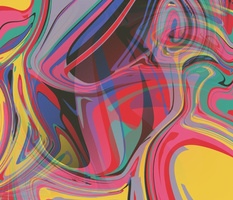 trippy boho hippie colorful rainbow swirls abstract, red pink yellow green blue lavender orange