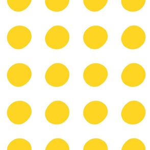 Yellow Circle Polka-Dots