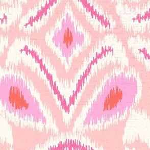 ikat flower/blush pink/jumbo