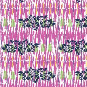 Modern Tie Dye-Bougainvillea Shadow
