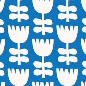 Scandi Floral   Blue Reverse