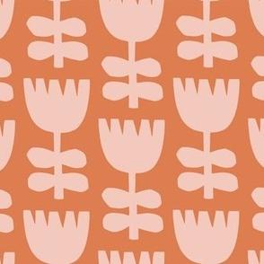 Scandi Floral   Pink + Orange