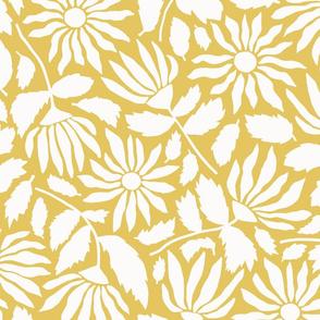 Wildflower Silhouette   Lemon Yellow