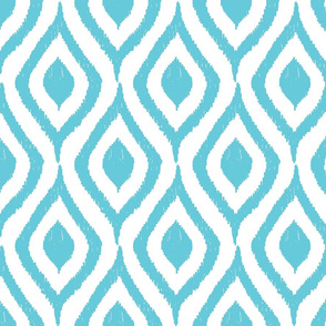 Prism Collection tourquoise ikat pattern swirl