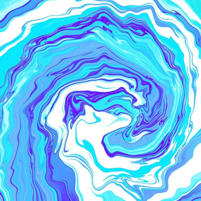 Tie Dye Turquoise Wave Blue Ocean Liquid