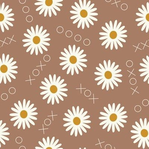 Simple daisies // Xs and Os and daisy flowers