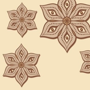Cut Out Ornate Floral Napkins Clay