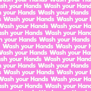 wash your hands on pink