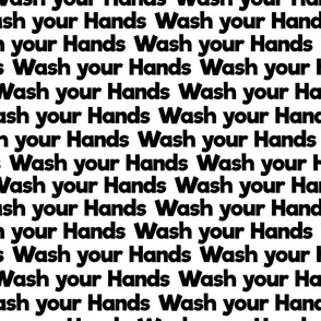 wash your hands on white