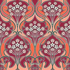 Art Nouveau floral 2