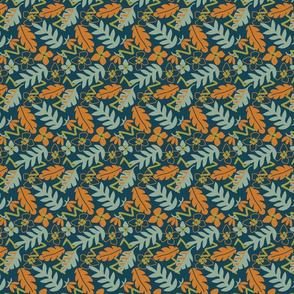 Primary Nature Leafy Geo - Orange - Small