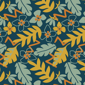 Primary Nature Leafy Geo - Yellow - Large
